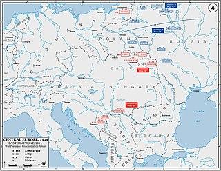 im Ersten Weltkrieg der Hauptschauplatz der Kriegshandlungen der Mittelmächte Deutschland und Österreich-Ungarn mit Russland