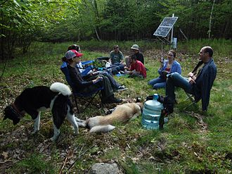 Ecoarttech - Image: Ecoarttech, opening party of Wilderness Information Network, Catskill Mountains, New York State