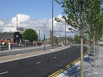 Edge Lane - Edge Lane after widening, June 2012