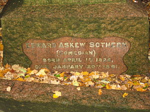 Edward Askew Sothern - Sothern's grave in Southampton Old Cemetery