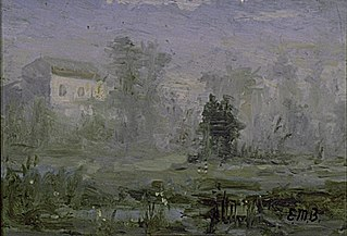 Untitled (landscape with house in background)