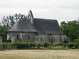 The church in La Lande-Chasles