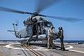 Egyptian SH-2G Super Seasprite aboard USS Jason Dunham (DDG-109) in the Red Sea on 31 July 2018 (180731-N-UX013-1066).JPG