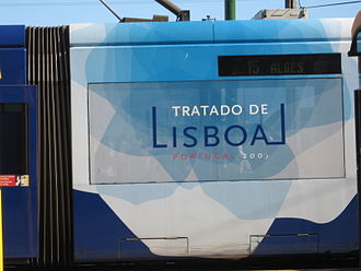 Signing of the Treaty of Lisbon - The tram that was used to transport the leaders