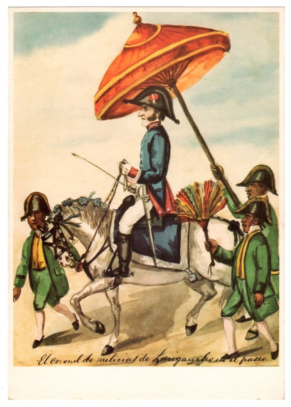 El Coronel de Milicias de Lurigancho en el paseo
