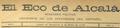 El Eco de Alcalá (08-07-1891) cabecera.png