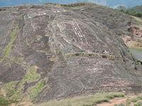 Vista del Fuerte de Samaipata y la roca tallada más gran del mundo
