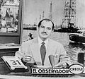 El Observador Crole's first broadcast on November 16, 1953 with anchor Francisco Amado Pernía.jpg