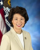 An image of Secretary of Transportation Elaine Chao.