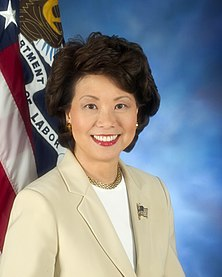 Elaine Chao was the first Asian-American woman to serve in the Cabinet.