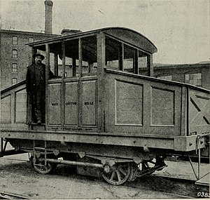 Charles Wallace Hunt - Electric battery locomotive by C.W. Hunt Company