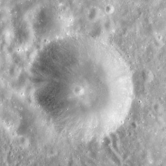 Elmer (crater) - Apollo 12 image