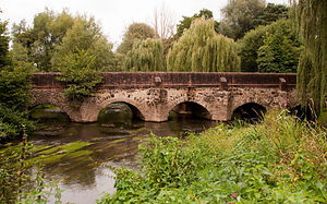 River Wey - Elstead Bridge, originally built by the monks of Waverley Abbey