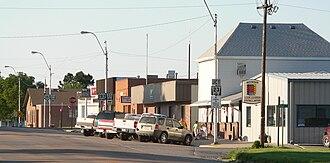 Elwood, Nebraska - Downtown Elwood: Smith Avenue