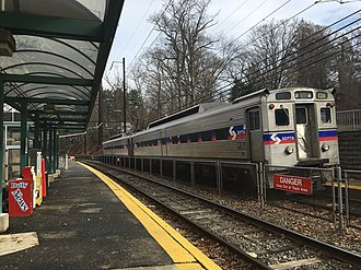 Elwyn station - Image: Elwyn PA SEPTA station January 2018
