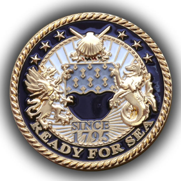 Embleholics Supply Corps Custom Challenge Coin Front Side