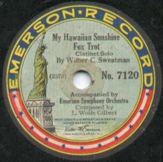 1916 in music - Wilber Sweatman record