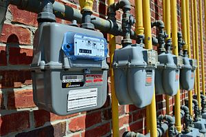 Enbridge - Enbridge gas meters.