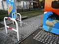Entenschnabel - Dippelpflasterstreifen am Silvesterweg Berlin nach Glienicke.jpg