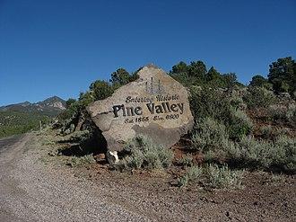 "Pine Valley, Utah - ""Entering Historic Pine Valley"""