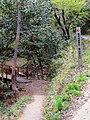 Entrance of mountain trail for going to Sarubami castle observation tower.jpg