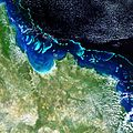 Envisat image of the Great Barrier Reef off Australia's Queensland coast ESA233136.jpg