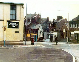 "Bomb disposal - ""The long walk"": A British Army ATO approaches a suspect device in Northern Ireland"