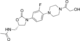 Skeletal formula of eperezolid