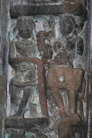 Pehowa - Image: Eroded Fresco on the Sarasawti temple wall Archaeological treasure