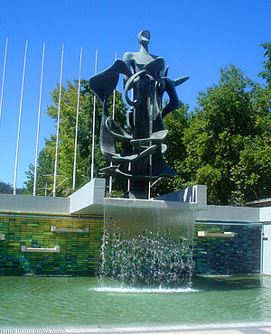 University of Concepción - Sculpture in honor of the founders of the University at the University Forum.