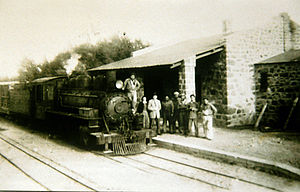 General Roca Railway - Boca de Zanja station of Chubut.