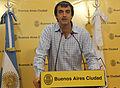 Esteban Bullrich atiende a la prensa luego de la habitual reunión de gabinete porteño (6923829147).jpg