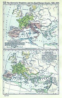 98e0fdf6500 Европа в 526 — под контролем готов и Византийская империя в 600 году в  период своего расцвета.