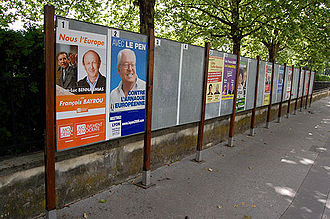 2009 European Parliament election in France - European Parliament election posters in France