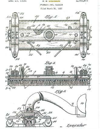 Automated pool cleaner - R.B. Everson invented the first suction-side pool vacuum cleaner