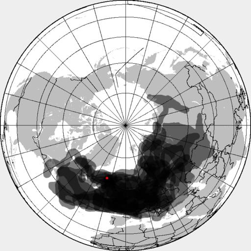 Eyjafjallajökull volcanic ash composite