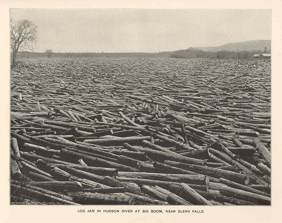 Fichier fmib 43078 log jam in hudson river at big boom for Hudson log