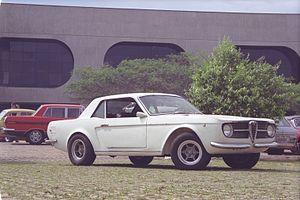"Fábrica Nacional de Motores - Brazilian made FNM Onça, made by Genaro ""Rino"" Malzoni in 1966, over an Alfa Romeo platform"