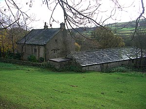 Fair House Farmhouse - The house seen from Annet Lane with the outbuildings on the right hand side.