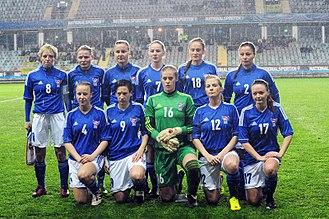 Faroe Islands women's national football team - Faroe Islands national team in 2013