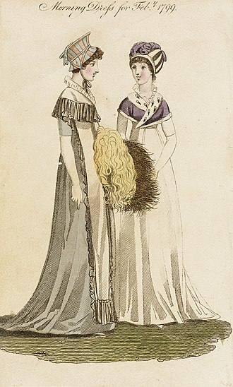 The Lady's Monthly Museum - Fashion plate entitled Morning Dress for Febr. 1799