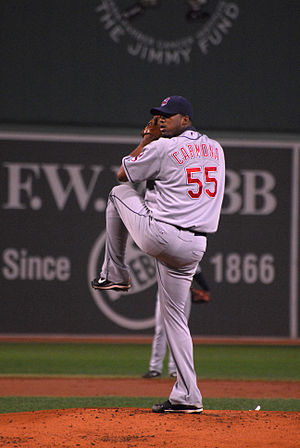 Roberto Hernández (starting pitcher) - Hernández (Carmona) pitching for the Cleveland Indians in 2008