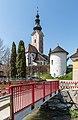 Feldkirchen Stadtpfarrkirche Mariä Himmelfahrt mit Tiebelbrücke 19042018 3012.jpg