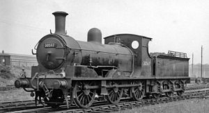 LSWR 395 class - No. 30567 at Feltham Locomotive Depot 11 May 1959.
