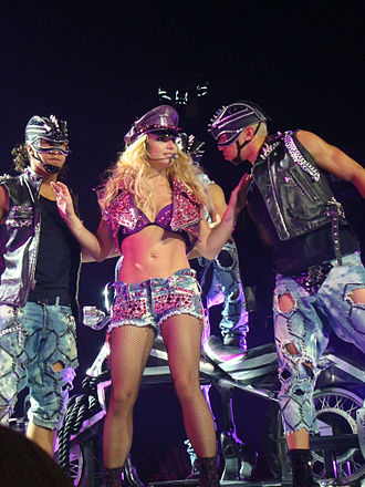 "...Baby One More Time (song) - Spears and some of her dancers performing ""...Baby One More Time"" during the Femme Fatale Tour, 2011."