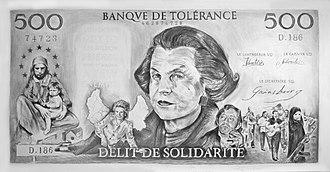 Liliane Bettencourt - Image: Filip Markiewicz Banque De Tolérance 290 x 150cm 2010