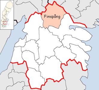 Finspång Municipality - Image: Finspång Municipality in Östergötland County