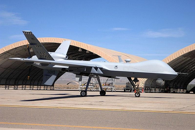 First MQ-9 Reaper at Creech AFB 2007.jpg