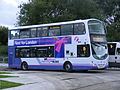 First Manchester 37561 MX09 LMJ Shuttle - route 41 Park & Ride 2012 Olympics White Water Centre (7700038690).jpg