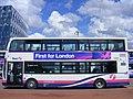 First West Yorkshire Shuttle bus, 37682 Greenwich peninsula SE10 (7721550960).jpg